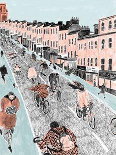 """Park Street, Bristol"" Art Print by Mouni Feddag on Society6."