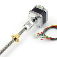 NEMA 17 Stepper motor with 300mm TR8x8 Lead Screw and Flexible Coupling - RepRap Champion  - 1