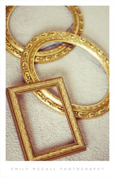 """gold frames for """"table numbers"""""""