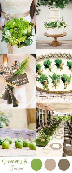 elegant natural greenery and taupe wedding color ideas Elegant Wedding Colors, Taupe Wedding, Neutral Wedding Colors, Winter Wedding Colors, Olive Green Weddings, Decoration, Wedding Ideas, Wedding Prep, Wedding Blog