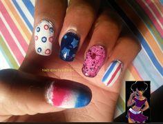 OMD 31 day nail art challenge Day 5- Skittle mani