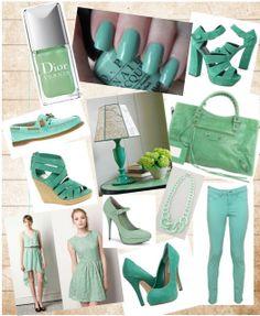 Com jeito de menina linda: Verde menta: como combinar?