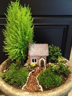 Pint-Sized Porch 2014 by Sarah Worth. Plants: Lemon Cypress (Cupressus macrocarpa 'Goldcrest'), Cotoneaster apiculata 'Tom Thumb', Euonymus japonicus 'Rykujo', Irish Moss, Miniature Brass Buttons (Leptinella gruveri), Dwarf Mondo Grass, and the following little bits of sedum: Little Missy, Tokyo Sun, and some type of Dragon's Blood. Oh, also a bit of Corsican Mint (Mentha requienii).