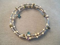 Jasper & Amethyst Chip Bracelet by LaurelMoonCreations on Etsy, $7.99