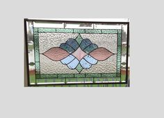 Victorian stained glass panel window hanging pastel by SGHovel