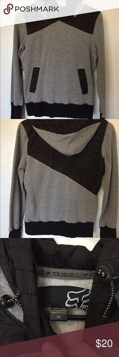 Fox hoodie Fox hoodie, black and gray, XS. Really good condition, only worn a handful of times. Fox Tops Sweatshirts & Hoodies