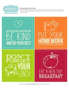 Routine Cards for Kids by Three Little Monkeys Studio