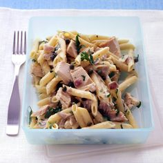 The combination of tuna, anchovies, capers, garlic, and parsley is traditional in Mediterranean cooking, particularly in southern France.