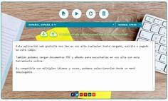 Lector de textos con voz gratuito, online y que no necesita registro. Podemos escribir el texto, pegarlo o cargarlo, también lee documentos PDF y eBooks.