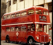 Red double decker.