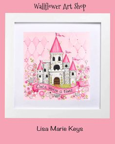 Personalized Princess Castle~ Children's Wall Art~ Personalized Art~ Baby Girl Nursery~ Princess Decor~ Pink Princess Room Princess Wall Art by WallFlowerArtShop on Etsy https://www.etsy.com/listing/125510282/personalized-princess-castle-childrens