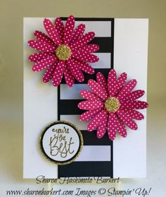 Daisy punch, Label Me Pretty stamp set Handmade Birthday Cards, Greeting Cards Handmade, Birthday Gifts, Karten Diy, Bday Cards, Cricut Cards, Stamping Up Cards, Card Sketches, Creative Cards