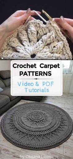 Crochet Deer, Crochet Mat, Crochet Carpet, Crochet Rug Patterns, Crochet Mandala, Crochet Round, Crochet Home, Crochet Designs, Free Crochet