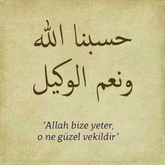 Allah bize yeter, o ne guzel vekildir