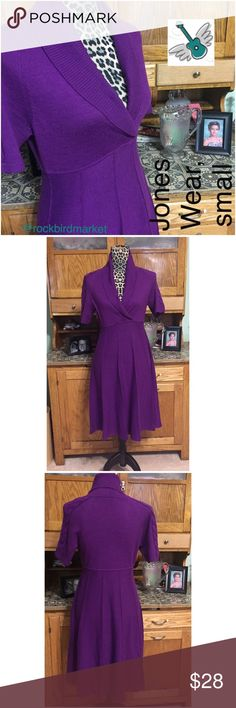 """Aubergine sweater dress, sexy for spring! Happy March!  I'm bringing in lots of transition dresses for the upcoming, unpredictable, spring weather. This dress is in excellent condition with no stains or pulls. It is about 16.5"""" across the bust, from armpit to armpit. It's about 14.5"""" at the waist and 37"""" in length. There is a decent amount of stretch in the soft fabric. All measurements taken laying flat. I have a five star closet and am a suggested user.  😍 Check my reviews and buy with…"""