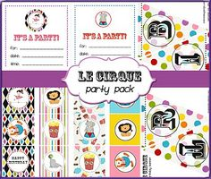 Free Printables: Le Cirque Rainbow Circus/Carnival Party Pack  {Smitten Blog Designs}