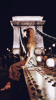 Liberty Bridge at night - Budapest, Hungary