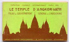Livret de cartes postales sur Angkor à l'exposition coloniale de Paris, 1931.