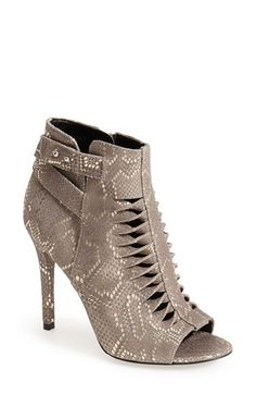 Trouve+Trouvé+'Hallie'+Leather+Twisted+Cutout+Bootie+(Women)+available+at+#Nordstrom