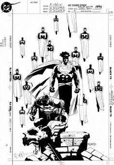 Man of Steel Annual #3 Cover Comic Art