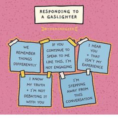 """What is gaslighting? """"It's a technique used to manipulate and distort,"""" says a psychotherpist. Here's how to stop a gaslighter mid-sentence. Mental And Emotional Health, Mental Health Matters, Emotional Abuse, Mental Health Awareness, Emotional Intelligence, Emotional Healing, What Is Gaslighting, Gaslighting Signs, Narcissistic Abuse"""