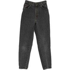 Vintage 90s Pants: 90s -Gitano Express- Womens faded black cotton... ($27) ❤ liked on Polyvore featuring pants, bottoms, jeans, trousers, peg leg trousers, vintage trousers, peg-leg trousers, zipper trousers and tapered leg pants