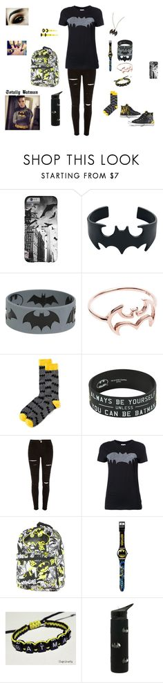 """""""Batman"""" by falloutromanceandthecellabration ❤ liked on Polyvore featuring Hot Topic, Old Navy, River Island, Zoe Karssen and Converse"""