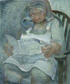leyendo en compañía, ilustración de Sandra Bierman
