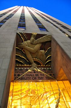 GE Building - Rockefeller Center has some of the finest Art Deco Architecture in New York City.
