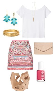 """Untitled #466"" by kmysoccer on Polyvore featuring Accessorize, MANGO, Jessica Simpson, Kate Spade, Dorothy Perkins, Bold Elements, Panacea and Essie"