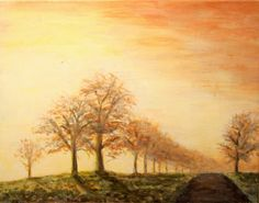 Country Road  Original Acrylic Painting on Canvas by durellstudio, $260.00