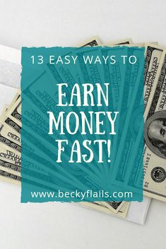 Learn 13 easy ways to earn money fast! Not just any money, but actual cash in hand. This post includes ways to earn in less than 24 hours! Earn Money Fast, Make Quick Money, Ways To Earn Money, Earn Cash Online, Make Money Online, Help Paying Bills, Diy Gifts To Sell, Cash Today, Get Gift Cards