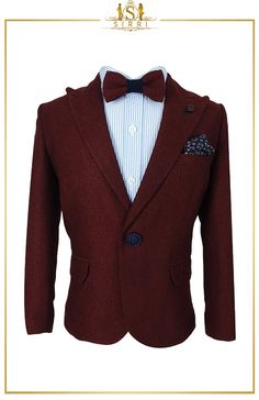 An adorable smart casual outfit from Beau KiD that is beyond adorable! This combo includes a lovely tweed jacket with cotton stretch chino trousers as well as a shirt and cute bow tie. Shop now at SIRRI kids #suits for boys for #wedding #communion online...Elegant fashion for children and men. #fashion #shopping