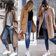 Cute outfit idea to copy ♥ For more inspiration join our group Amazing Things ♥ You might also like these related products: - Skirts ->. Casual Winter Outfits, Winter Fashion Outfits, Autumn Fashion, Fashion Tips, Mode Outfits, Stylish Outfits, Trenchcoat Style, Camel Coat Outfit, Look Blazer