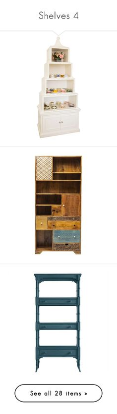 """""""Shelves 4"""" by mysfytdesigns ❤ liked on Polyvore featuring home, children's room, children's furniture, furniture, storage & shelves, bookcases, wooden book shelves, wood bookcases, wooden storage shelving units and shelf storage units"""