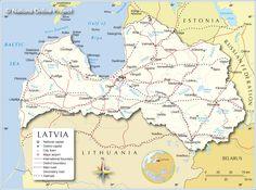 latvia maps Topographical map of Latvia Latvia topographical map