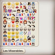 Les Miserables, emoji-style.