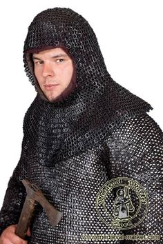 Chainmail Coif (round rivets). SPES Medieval Market