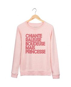 Sweats Femme Princesse rose Pink Rose chine by Madame T-SHIRT QUOTES