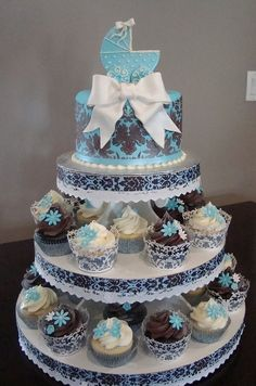 Art baby shower cupcakes cupcakes