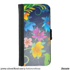 pretty colored floral case
