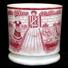 Child's mug. Ceramic Mugs, Stoneware, Red And Pink, Red And White, Childrens Mugs, Chicken Feed, China Sets, Modern Ceramics, China Patterns