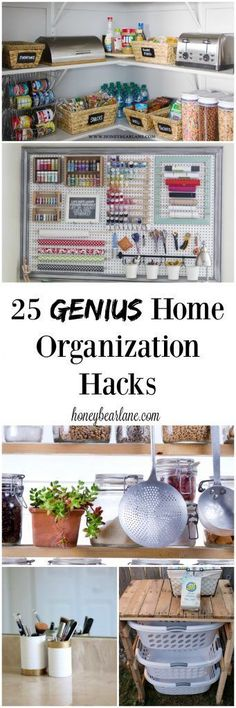 These 25 genius home organization hacks are easy and life changing! home organization | home organization ideas | home organization diy | home organization declutter | home organization diy on a budget | » home • organization « | home organization and style