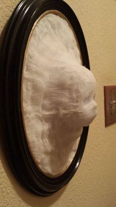 Interesting effect for Halloween.Baby ghost face coming out of mirror