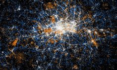 Data visualisation (cropped) showing London's Twitter and Flickr traffic.