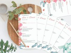 Watercolor Wedding Menu Printable Wedding Menu Floral Wedding Menu, Wedding Invitations, Wedding Ideas, Printable Menu, Printables, Watercolor Wedding, Invite Your Friends, Handmade Gifts, Etsy Handmade