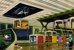 Futuristic Pre-fab Housing - delivered by helicopter! (1966)