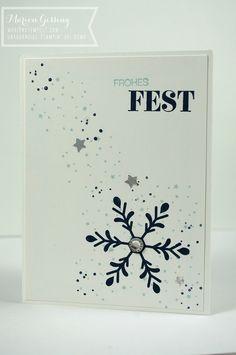Stampin' Up, Winterliche Weihnachtsgrüsse, Weihnachtskarte