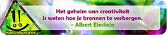 Het geheim van creativiteit is weten hoe je bronnen te verbergen. - Albert Einstein http://naturerunswild.com/jouw-of-mijn-creatieve-ideeen.php
