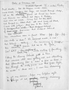 Explore 'Poetry manuscripts of Wilfred Owen', on the British Library's World War One website.